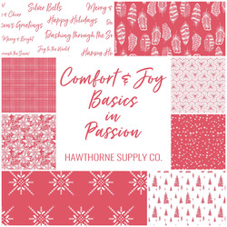 Comfort and Joy Basics Fat Quarter Bundle in Passion