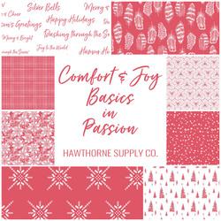 Comfort and Joy Basics Fat Quarter Bundle in Passion