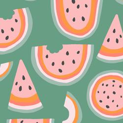 Rainbow Melon in Basil Green