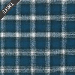 Mammoth Fine Plaid Flannel in Cobalt