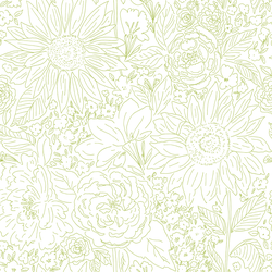 Paperie in Bright Green on White