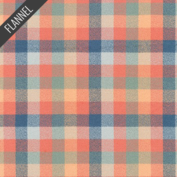 Mammoth Organic Colorful Check Flannel in Sundance