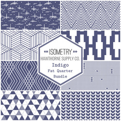 Isometry Fat Quarter Bundle in Indigo