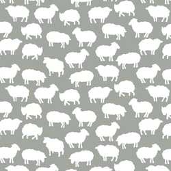 Sheep Silhouette in Sage