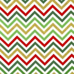 Zig Zag Stripe in Holiday Metallic