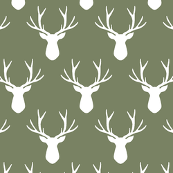 Stag Silhouette in Olive