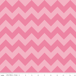Medium Chevron Tone on Tone in Hot Pink