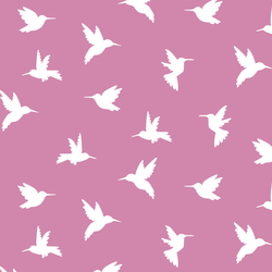 Hummingbird Silhouette in Wisteria