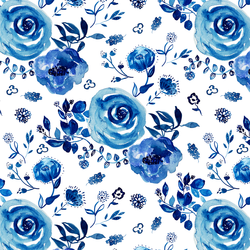 Chinoiserie Floral in Cobalt