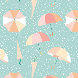 Umbrellas in April Showers