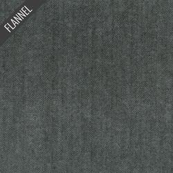 Shetland Herringbone Flannel in Jet