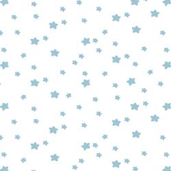 Star Light in Bluebell on White