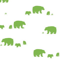 Bear Silhouette in Greenery