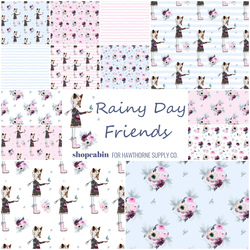 Rainy Day Friends Fat Quarter Bundle Little Scale