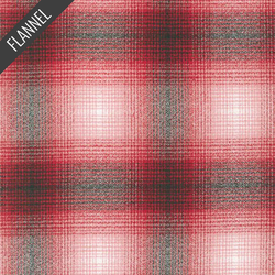 Mammoth Ombre Plaid Flannel in Red