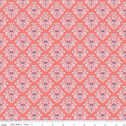 Damask in Coral