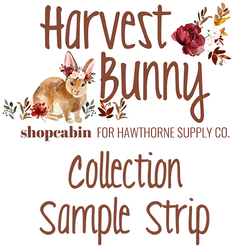 Harvest Bunny Sample Strip Little Scale