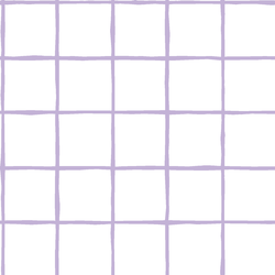 Windowpane in Lilac on White