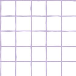 Windowpane in Lilac on White