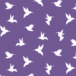 Hummingbird Silhouette in Ultra Violet