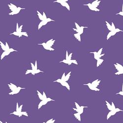Hummingbird Silhouette in Ultra Violet