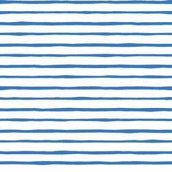Artisan Stripe in Cerulean on White