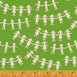 Paper Dolls in Green