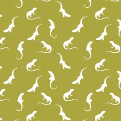 Iguana Silhouette in Zest