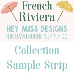 French Riviera Sample Strip