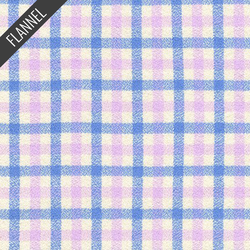 Mammoth Junior Windowpane Plaid Flannel in Periwinkle