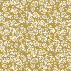 Little Tea Roses in Gold