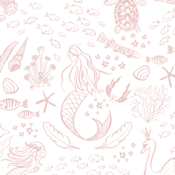 Large Magical Ocean in Blush