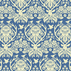 Little Antler Damask in Hyacinth Blue
