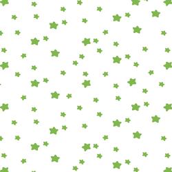 Star Light in Greenery on White