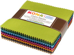 KONA Solid Charm Squares Bundle in Dusty 101