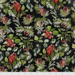 Evergreen Floral in Black