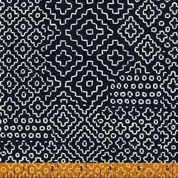 Stitch Sampler in Indigo