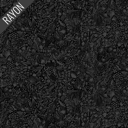 Plants Rayon in Black