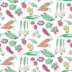 Veggies in White