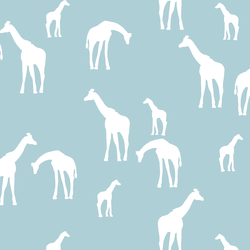Giraffe Silhouette in Powder Blue