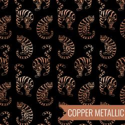 Tiger In The Taiga in Metallic Black