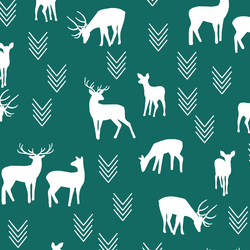 Deer Silhouette in Emerald