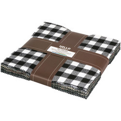 Mammoth Flannel Ten Squares Bundle in Black