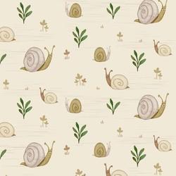 Happy Snails in Ecru