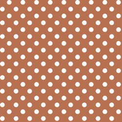 Candy Dot in Terracotta