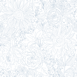Paperie in Periwinkle on White