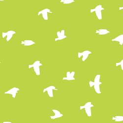 Flock Silhouette in Lime