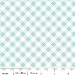 Seaside Gingham in Aqua