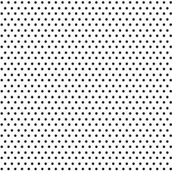 Winter Dot in Black on White