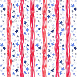 Stars & Stripes in White